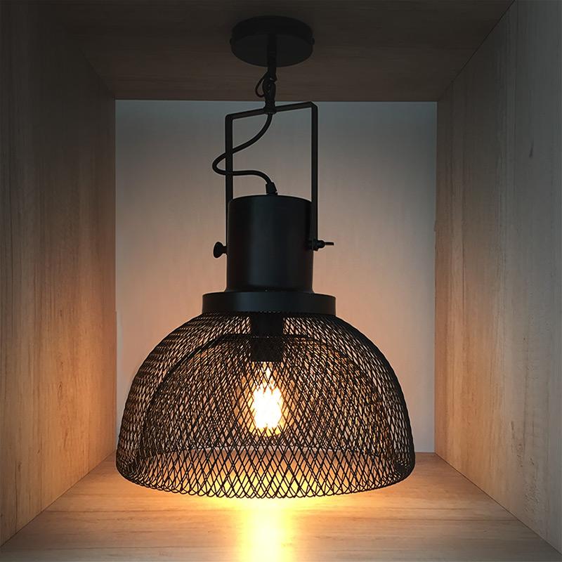 L mpara de techo campana estilo industrial alta gracia deco - Lamparas originales de techo ...
